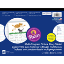 Pacon PAC2483 Picture Story Paper 40 Sht 12X9 5/8 In Rule Long