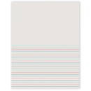 Pacon PAC2695 Writing Paper 50 Sht 8.5 X 11 1/2 Inch Rule Short