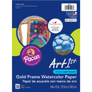Pacon PAC4926BN Art1St Gold Frame Watercolr, 3 PK