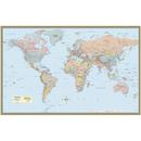 Barcharts QS-9781423220831 World Map Laminated Poster 50 X 32