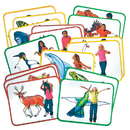 Roylco R-62010 Body Poetry Animal Action Cards