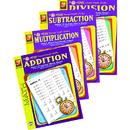 Remedia Publications REM5012E Easy Timed Math Drills 4 Book Set