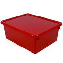 Romanoff Products ROM16002 Stowaway Red Letter Box With Lid 13 X 10-1/2 X 5