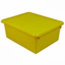 Romanoff Products ROM16003 Stowaway Yellow Letter Box With Lid 13 X 10-1/2 X 5