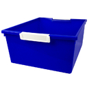 Romanoff Products ROM53604 12Qt Blue Tattle Tray W Label Hold