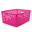 Romanoff Products ROM74007 Small Hot Pink Woven Basket
