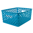 Romanoff Products ROM74008 Small Turquoise Woven Basket