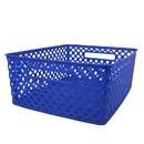 Romanoff Products ROM74104 Medium Blue Woven Basket