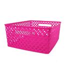Romanoff Products ROM74107 Medium Hot Pink Woven Basket