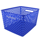 Romanoff Products ROM74204BN Large Blue Woven Basket, 3 EA