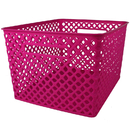 Romanoff Products ROM74207BN Large Hot Pink Woven Basket, 3 EA