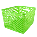 Romanoff Products ROM74215BN Large Lime Woven Basket, 3 EA