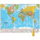 Round World Products RWPHM01 Hemispheres Laminated Map World