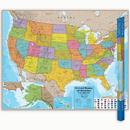 Round World Products RWPHM02 Hemispheres Laminated Map United - States
