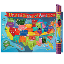 Round World Products RWPKM02 United States Map For Kids