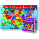 Round World Products RWPKP02 United States Jigsaw Puzzle For Kid