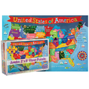 Round World Products RWPKP04 United States Floor Puzzle For Kids
