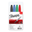 Sanford L.P. SAN33074 Marker Set Sharpie Super 4 Color Set Black Red Blue Green