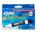 Sanford L.P. SAN80074 Marker Expo 2 Dry Erase 4 Color - Chisel Black Red Blue Green