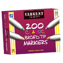 Sargent Art SAR221527 Markers Best Buy Assort 8 Colors - Broad Tip 200/Markers