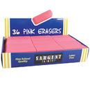Sargent Art SAR361012 36Ct Large Pink Eraser Pack