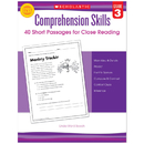 Scholastic Teaching Resources SC-546054 Comprehension Skills Gr 3 40 Short Passages For Close Reading