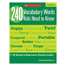 Scholastic Teaching Resources SC-546864 240 Vocabulary Words Kids Need To Know Gr 4