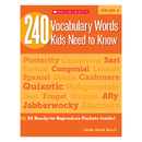 Scholastic Teaching Resources SC-546866 240 Vocabulary Words Kids Need To Know Gr 6