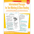 Scholastic Teaching Resources SC-579378 Gr 2 Informational Passages For - Text Marking Close Reading