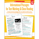 Scholastic Teaching Resources SC-579381 Gr 5 Informational Passages For - Text Marking Close Reading