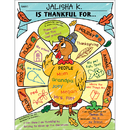 Scholastic Teaching Resources SC-831434 Personal Poster Set I Am Thankful Gr K-2