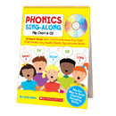 Scholastic Teaching Resources SC-9780545104357 Phonics Sing-Along Flip Chart & Cd Gr K-2