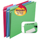 Smead Manufacturing SMD64031 Smead 18Ct Asst Colors Erasable - Fastab Hanging Folders