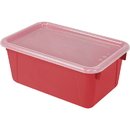Storex STX62407U06CBN Small Cubby Bin With Cover, 3 EA