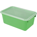 Storex STX62409U06CBN Small Cubby Bin With Cover, 3 EA