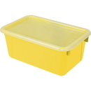 Storex STX62410U06CBN Small Cubby Bin With Cover, 3 EA