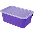 Storex STX62411U06CBN Small Cubby Bin With Cover, 3 EA