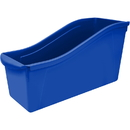 Storex STX71101U06CBN Large Book Bin Blue, 6 EA