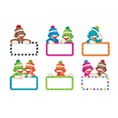 Trend Enterprises T-10609 Sock Monkey Signs Accents Variety - Pack