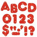 Trend Enterprises T-1614 Ready Letters 4 Casual Red Sparkle