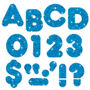 Trend Enterprises T-1617 Ready Letters 4 Casual Blue Sparkle