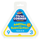 Trend Enterprises T-1670 Three-Corner Flash Cards 48/Pk Addition & Subtraction