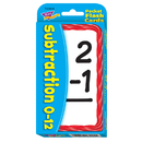 Trend Enterprises T-23005 Pocket Flash Cards 56-Pk 3 X 5 Subtraction Two-Sided Cards