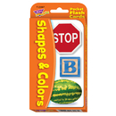 Trend Enterprises T-23007 Pocket Flash Cards Colors 56-Pk & Shapes 3 X 5 Two-Sided Cards