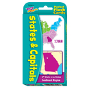 Trend Enterprises T-23014 Pocket Flash Cards 56-Pk States And Capitals 3 X 5 Two-Sided Cards