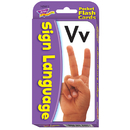 Trend Enterprises T-23016 Pocket Flash Cards Sign Language 56-Pk 3X5 Two-Sided Cards