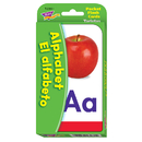 Trend Enterprises T-23031 Pocket Flash Cards Alphabet El Alfabeto