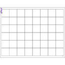 Trend Enterprises T-27306 Graphing Grid Large Squares Wipe Off Chart 17X22