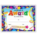 Trend Enterprises T-2951 Certificate Of Award Stars 30/Pk 8-1/2 X 11