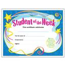 Trend Enterprises T-2960 Certificate Student Of The 30/Pk Week 8-1/2 X 11